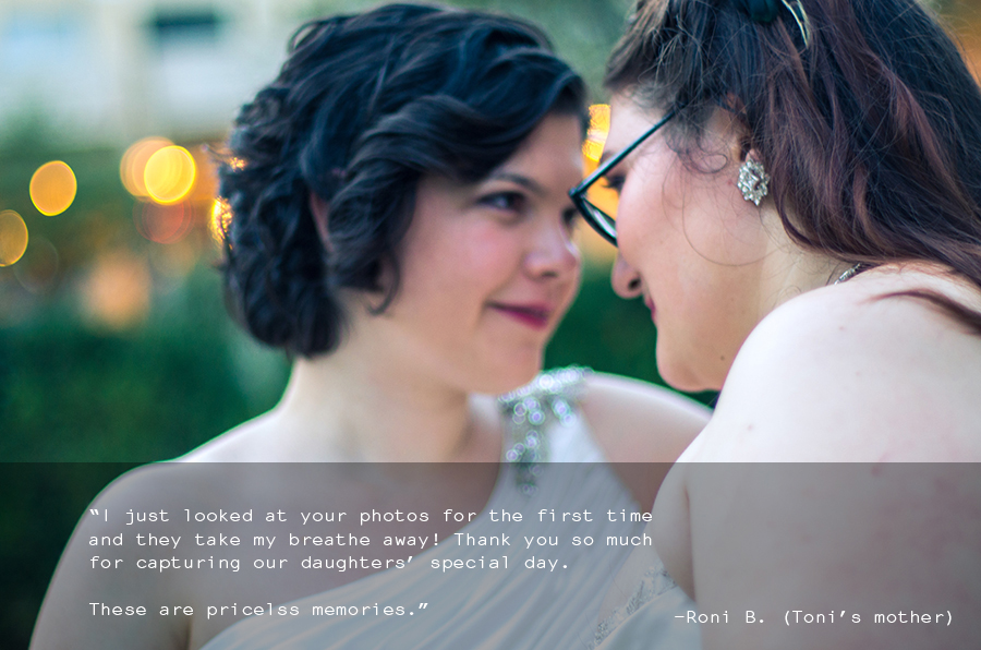 Wedding Photography review from LGBT Brides Toni and Lauren