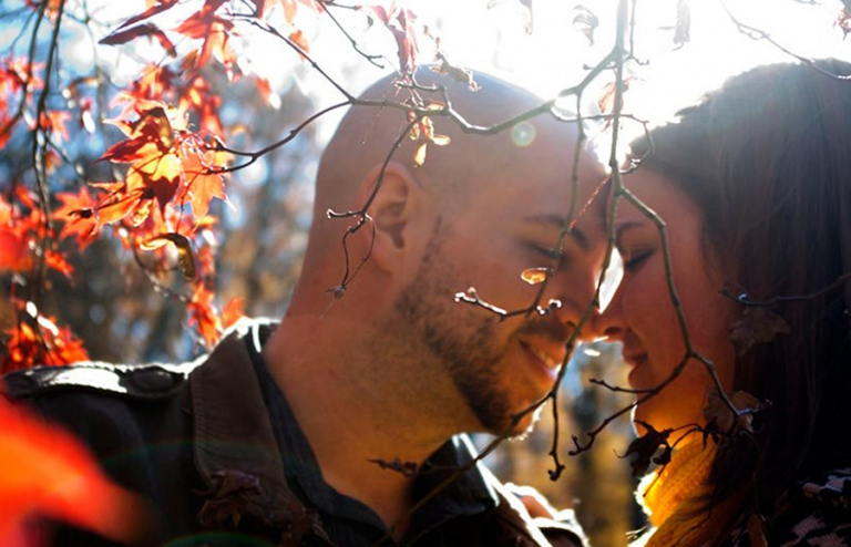 Brookside Gardens MD Engagement Couple Photography