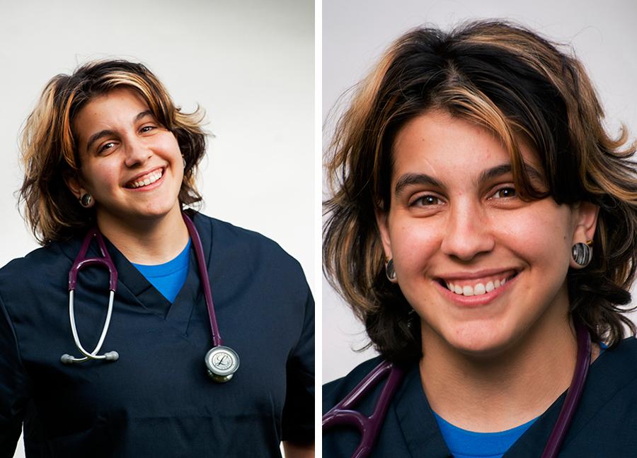 med student portrait photography Dr. Muscles grr dinosaur