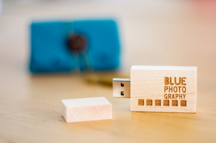 Wooden flash drives to deliver photos to my clients