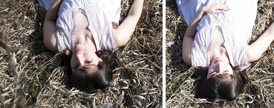 Sarah rural grass field plastic wrap effect