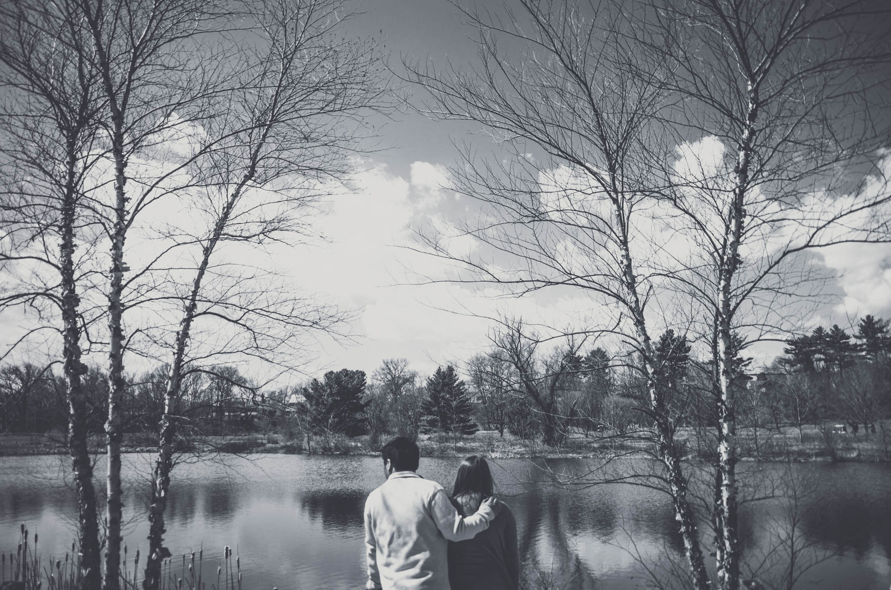 Boston Fresh Water Pond Engagement Portrait Photography