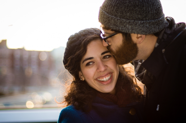 Blue Photography | Lifestyle Portraits Portfolio | Matt and Jaya Hilarious NYC Highline Engagement Session